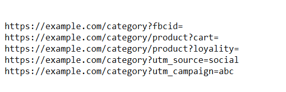 product page utm parameters